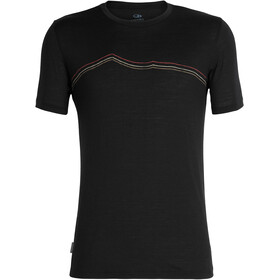 Icebreaker Tech Lite Rangitoto Triple t-shirt Heren zwart